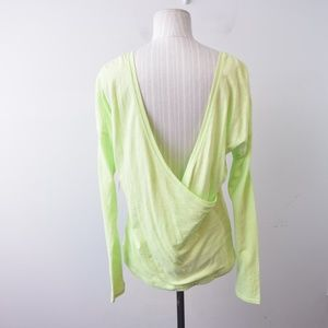 Lucy Perfect Pose Top Small Open Back Yellow New